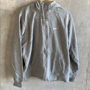 NIKE - Men's Sz XL Gray Zip-Up Hoodie